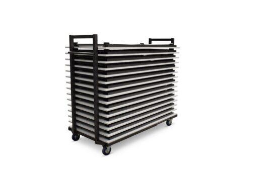 ref. 3802 transportkar conferentietafels gevuld
