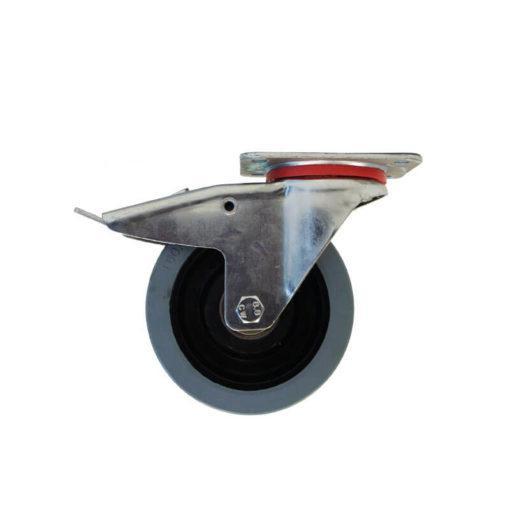 swivel castors with brakes