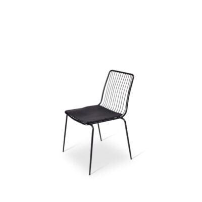 Ref. 740177 Draadstoel Zwart Met Zitting